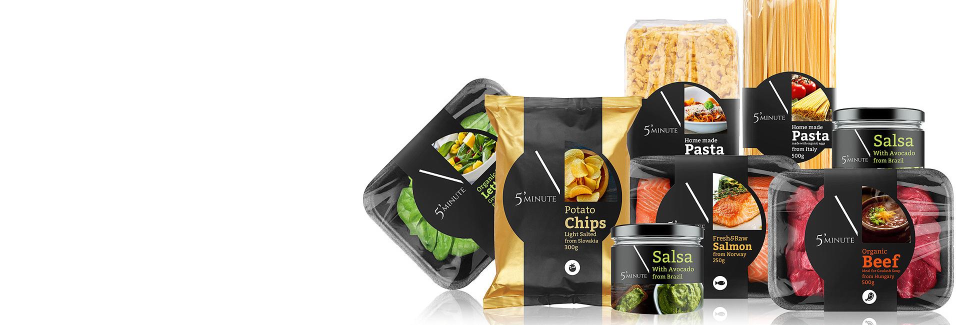 5 Minute – packaging koncept pre privátnu značku potravín