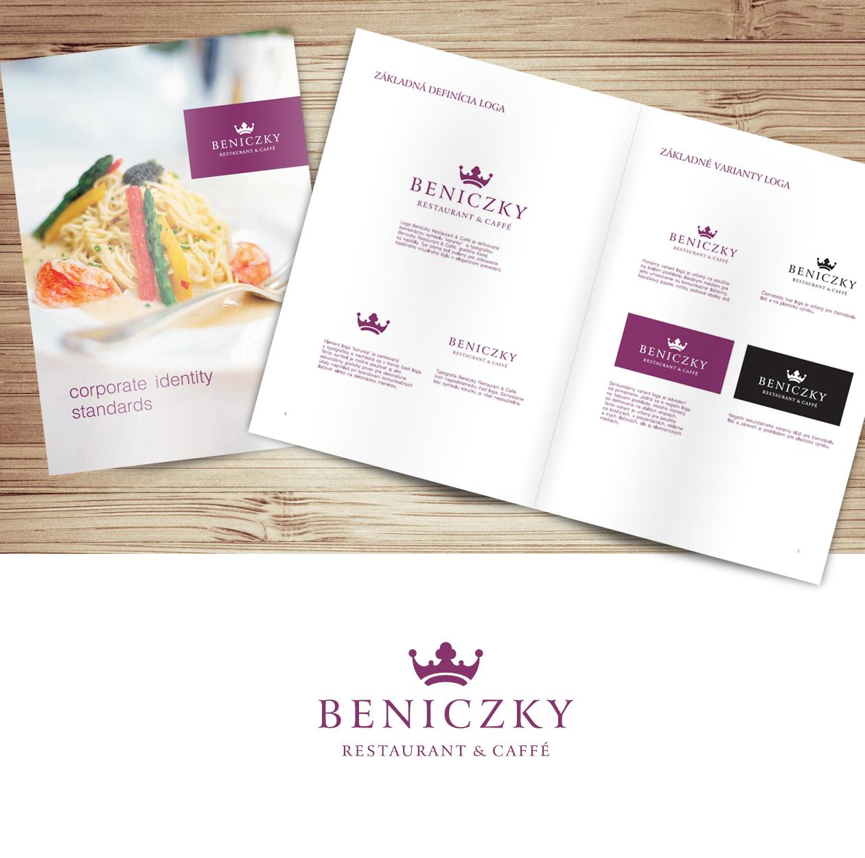logo design Beniczky branding MAISON D'IDÉE