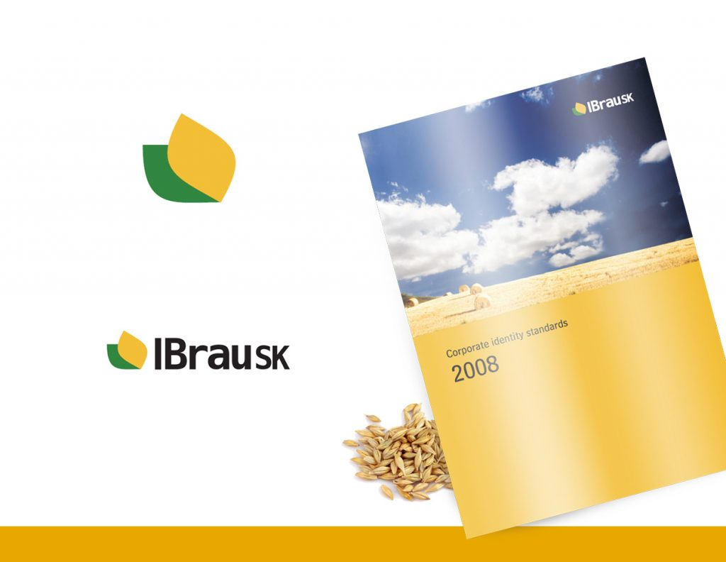 logo design IBrauSK identity MAISON D'IDÉE