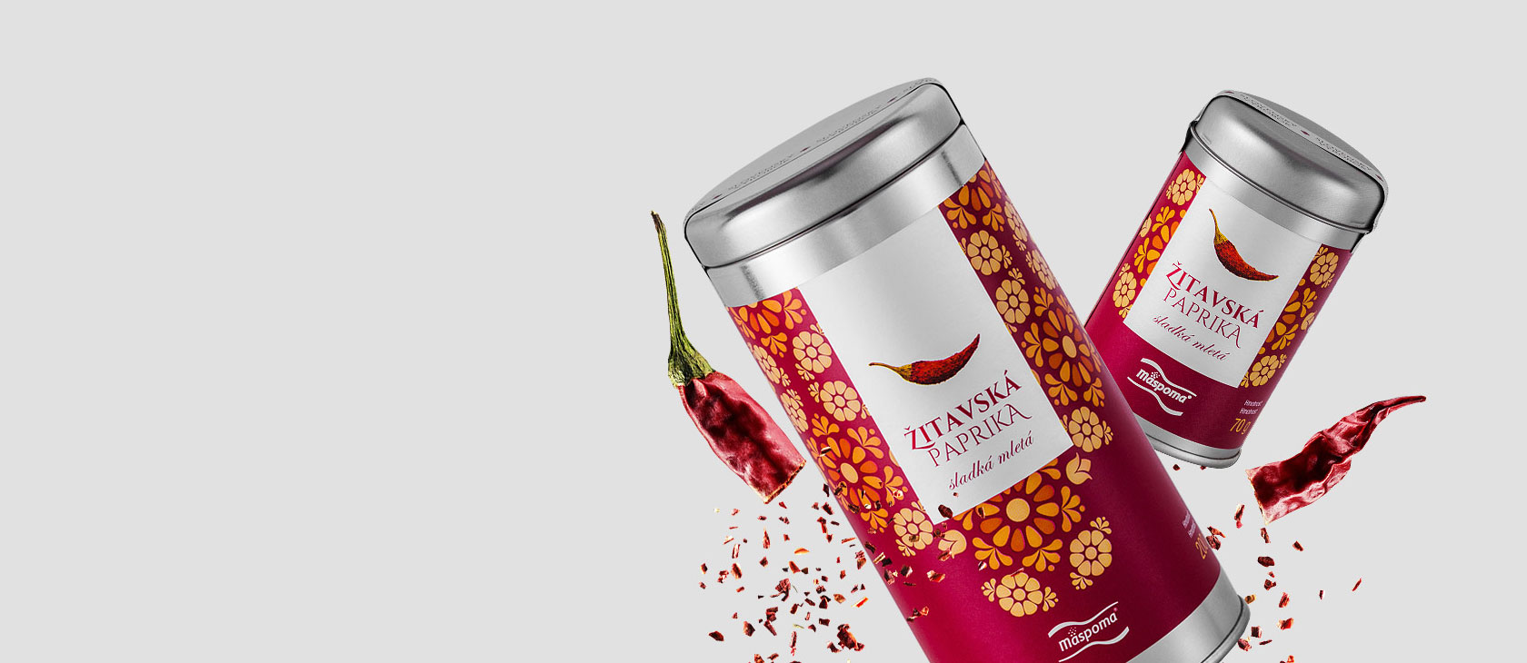Žitavská paprika od Mäspomy je delikatesa s lahodným obalovým designem