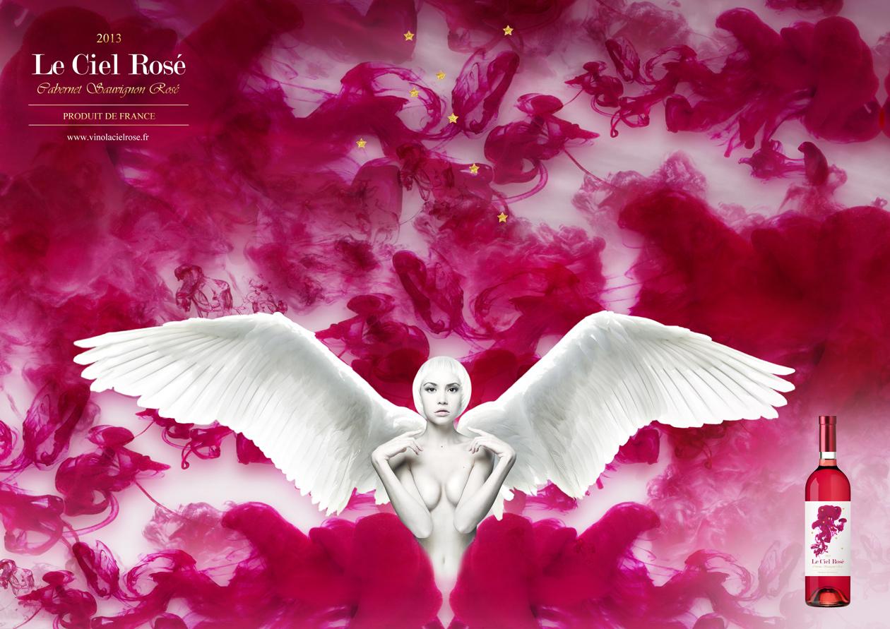 packaging design Le Ciel Rosé MAISON D'IDÉE