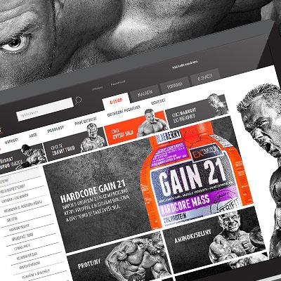 Webdesign for fitness e-commerce website