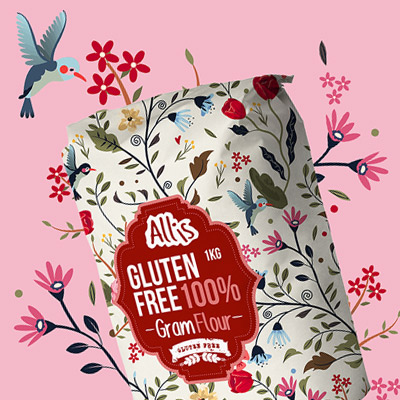 Allis Gluten Free packaging design