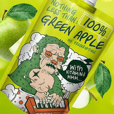 Nothing Less Than: 100% Fruit Packaging Design