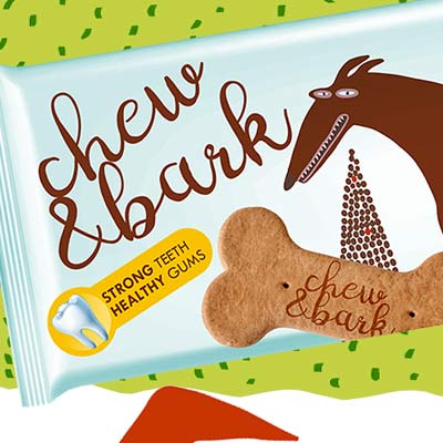Chew & Bark Packaging Design for Dog Food