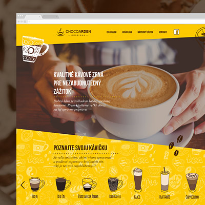 Whole new branding and website for a coffee shop