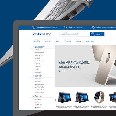 Webdesign for an exclusive ASUS laptop e-commerce site