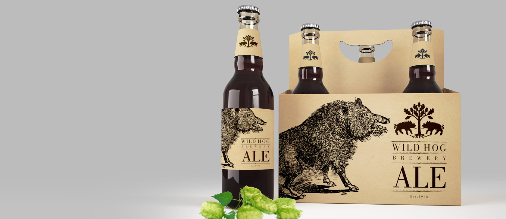 Wild Hog Brewery – branding a packaging