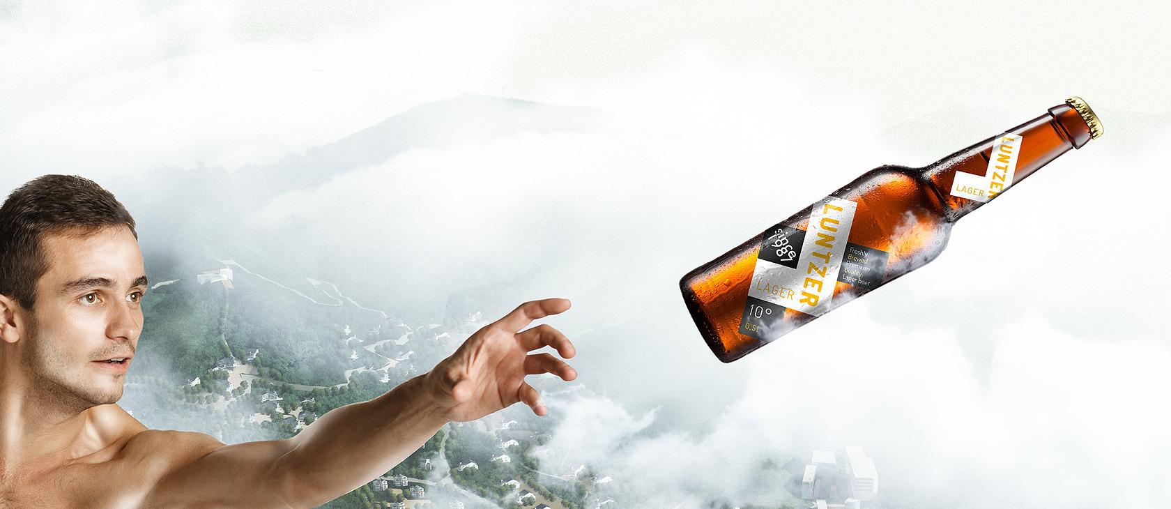 Luntzer Moderný Obalový Dizajn a Reklama Pre Pivo