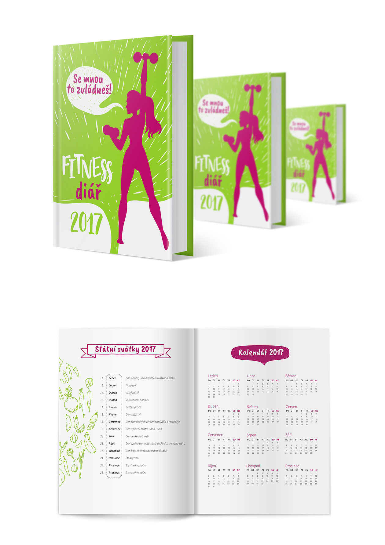 packaging fitness diary MAISON D'IDÉE