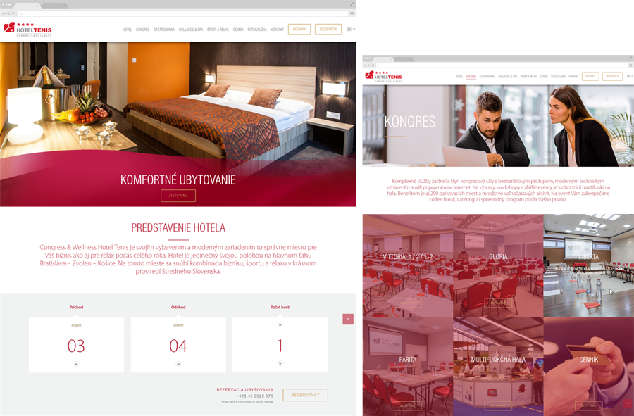 Hotel tennis has a new website by maison didée