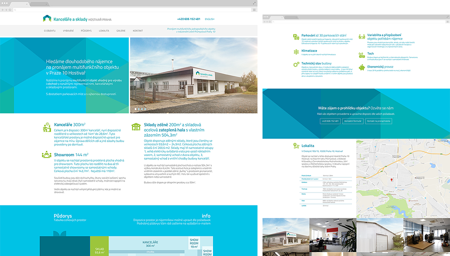 We designed and developed a brand new website to promote a multifunction building located in prague 10 hostivar