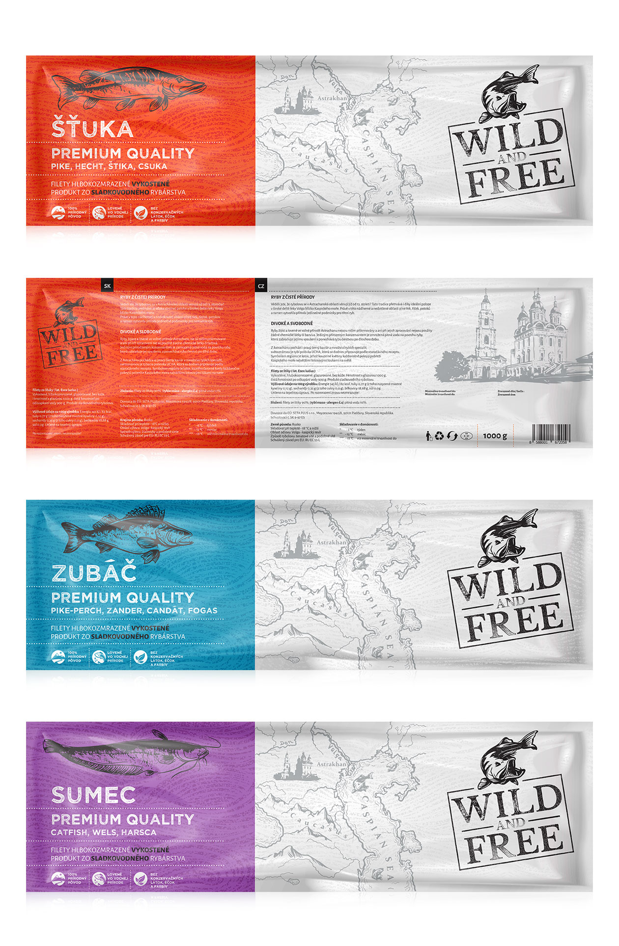 packaging Wild anf free Fish MAISON D'IDÉE