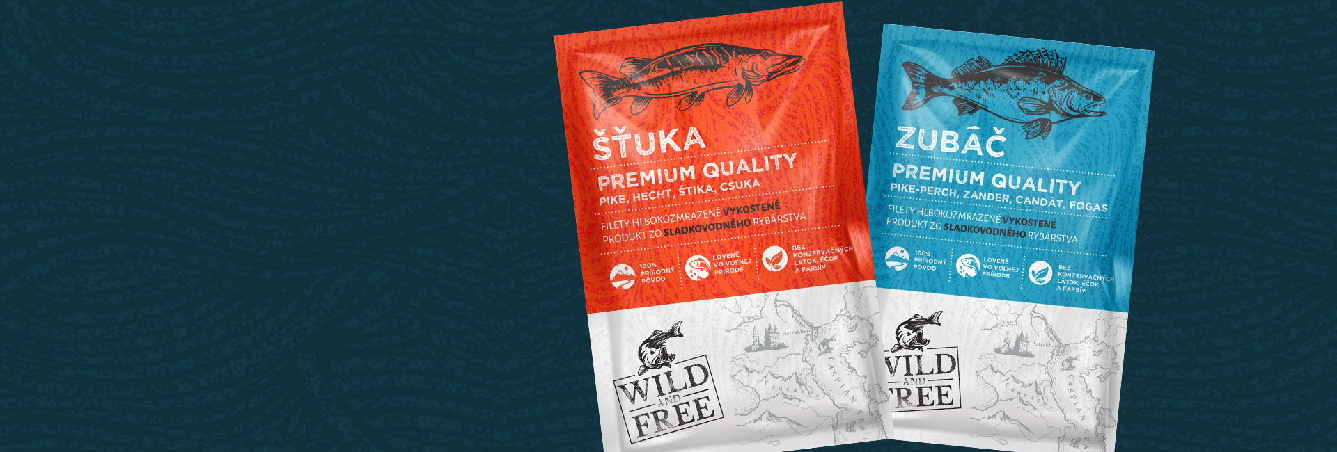 Wild and Free Packaging <span>Design for Fish</span>