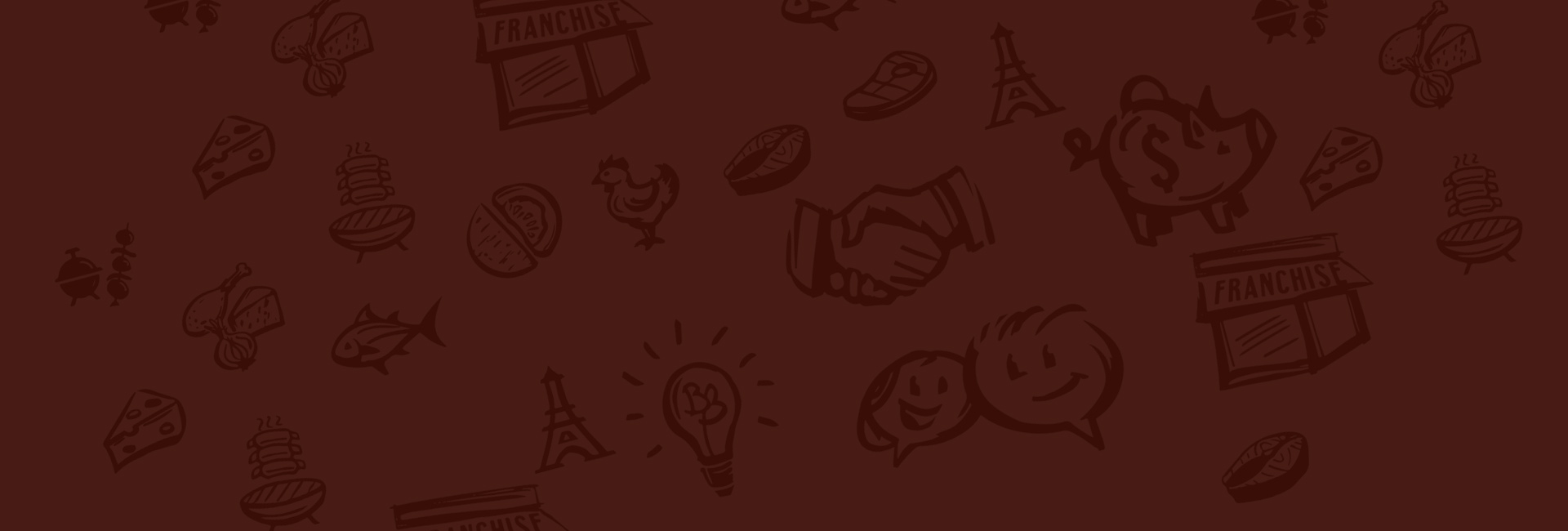 A series of illustrated <span>icons for the Bageterie Boulevard brand</span>