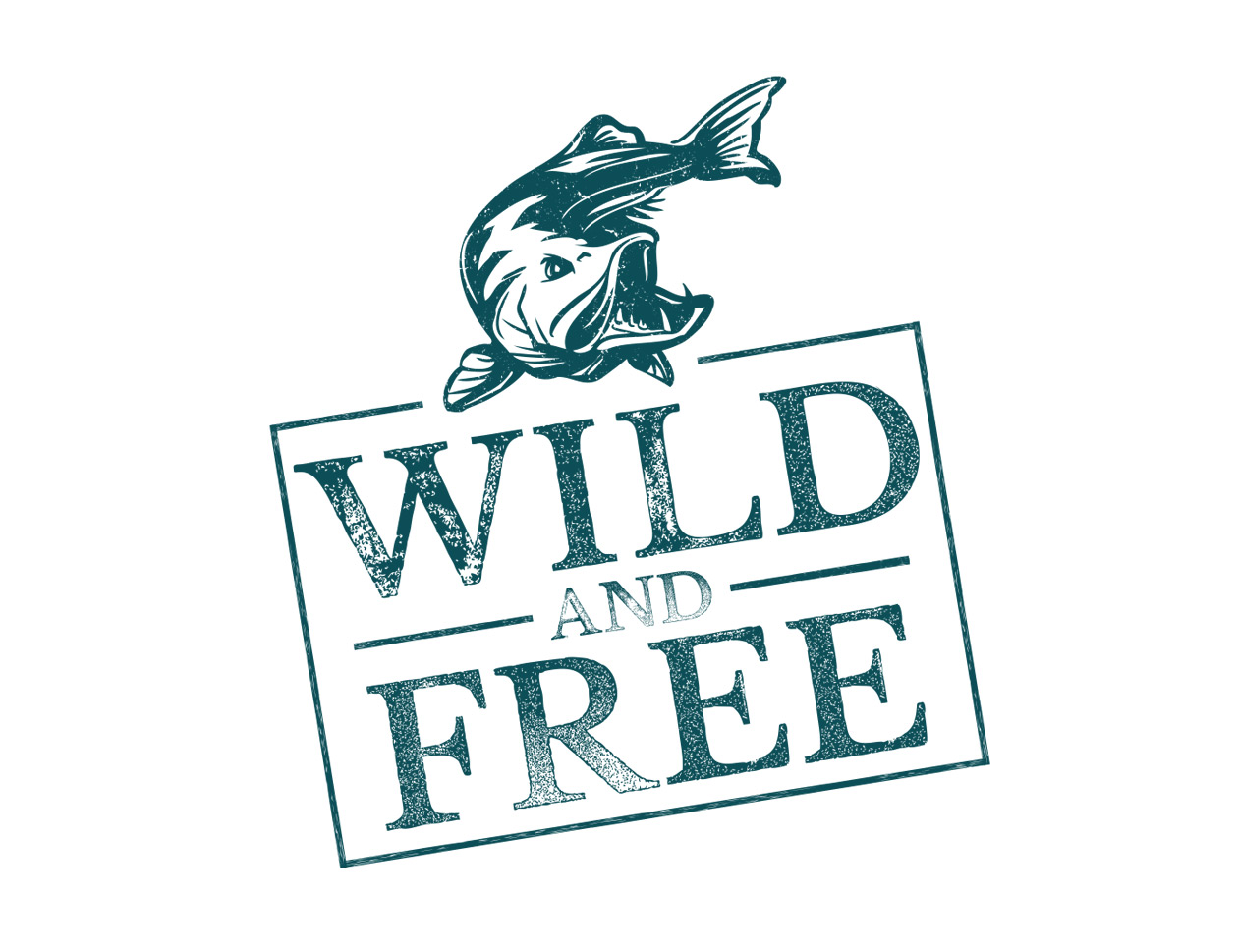 illustration Wild and free Fish MAISON D'IDÉE
