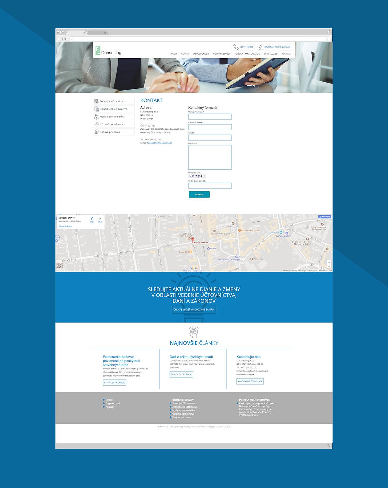 webdesign Flconsulting MAISON D'IDÉE