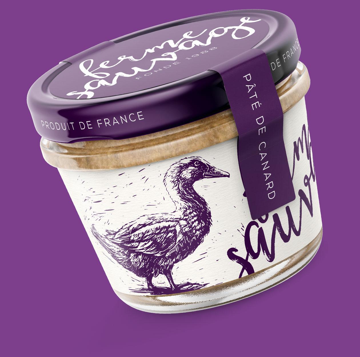 packaging Paté illustrated MAISON D'IDÉE