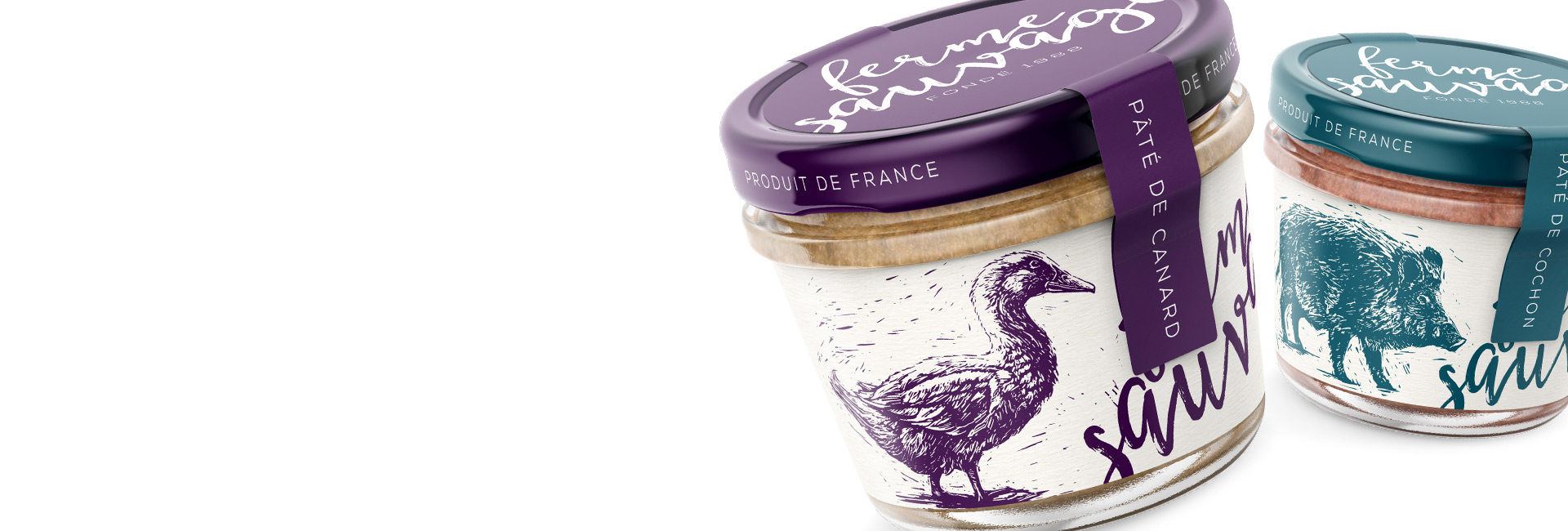 packaging Paté illustrated MAISON D'IDÉE
