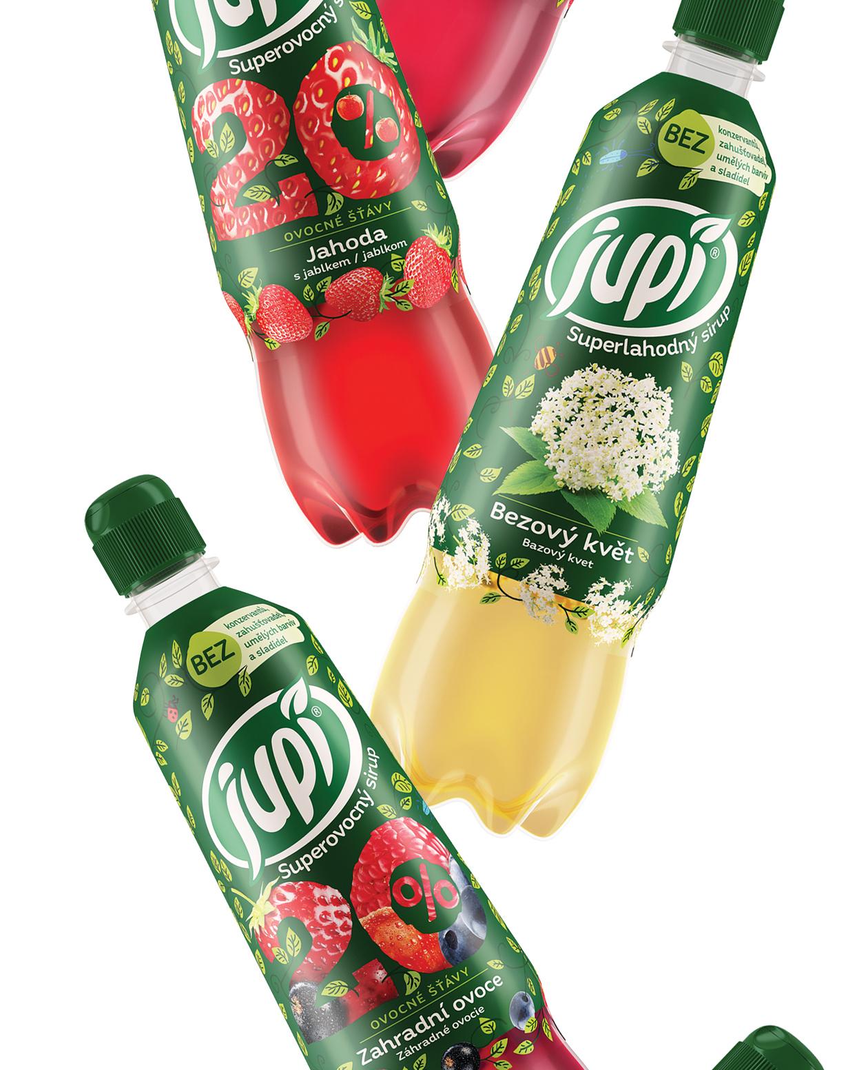 packaging Jupí syrup MAISON D'IDÉE