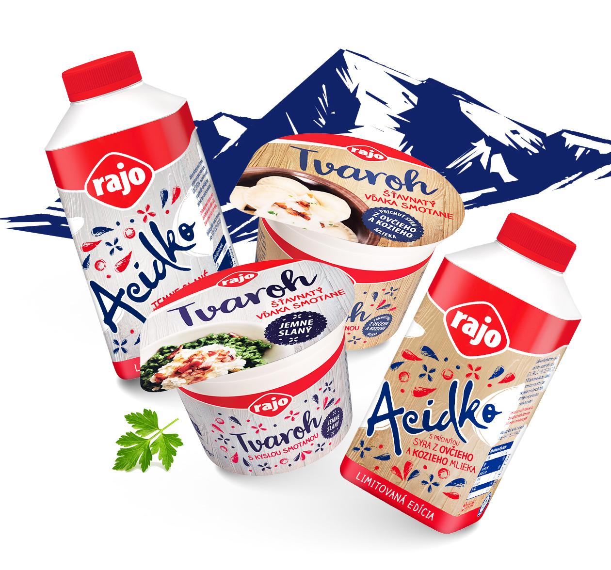 packaging rajo acidko tvaroh slovenska edicia