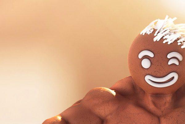 protein cookies 3D graphics intro