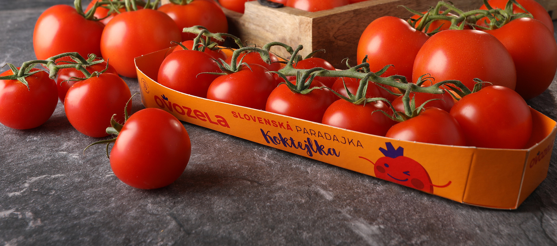 Rebranding a packaging rajčat od Ovozely