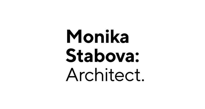 logo design monika stabova architect