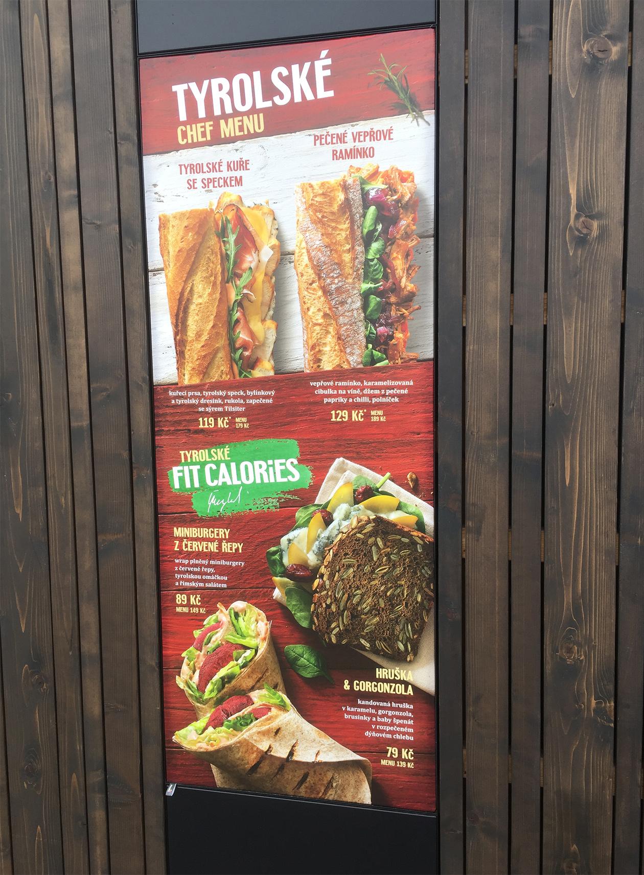 Tyrolean menu Bageterie Boulevard