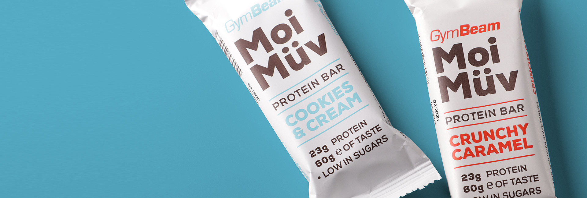 gymbeam moi muv packaging intro