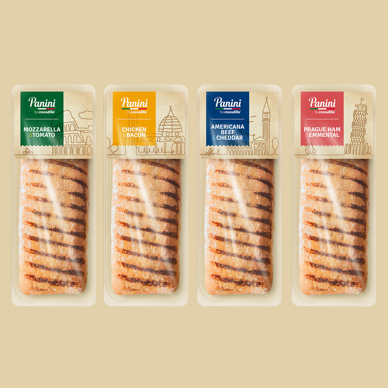 packaging Panini by Crocodille