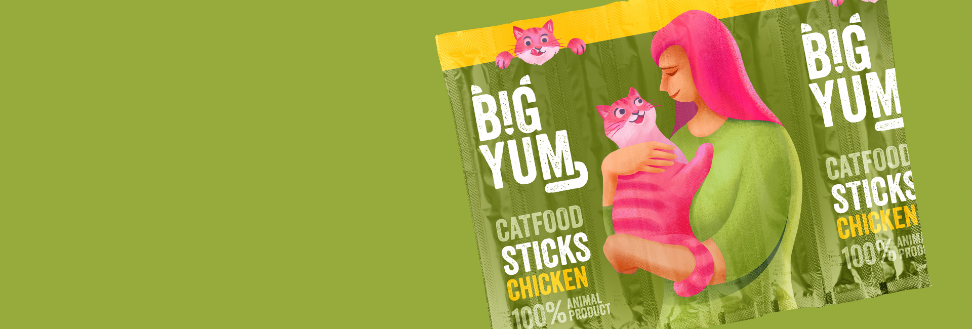 cat food sticks packaging intro