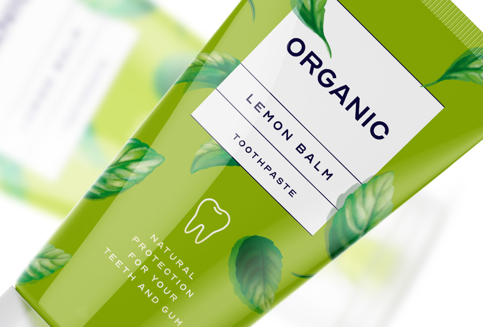packaging organic toothpaste cosmetics intro