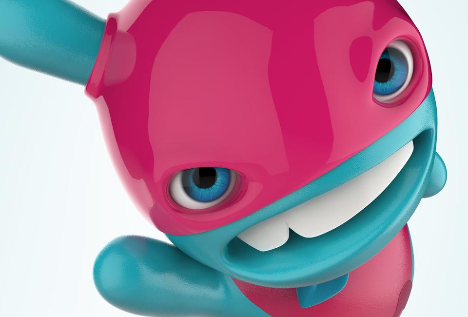 3D franchise mascot mobilonline intro
