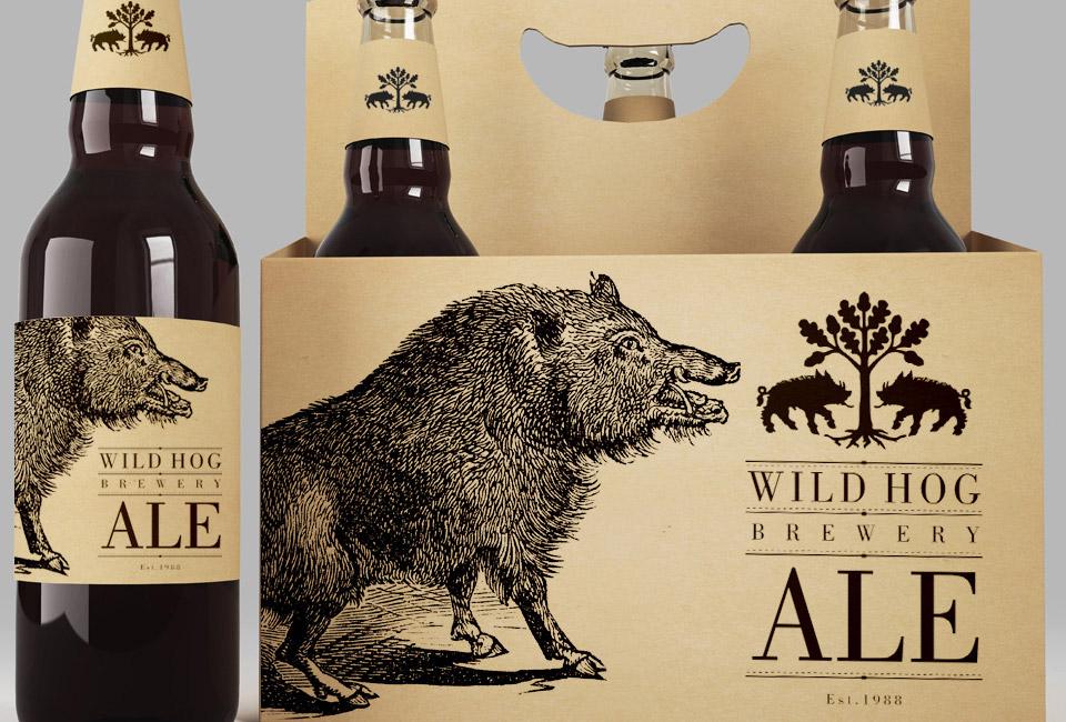 packaging ale wild hog brewery