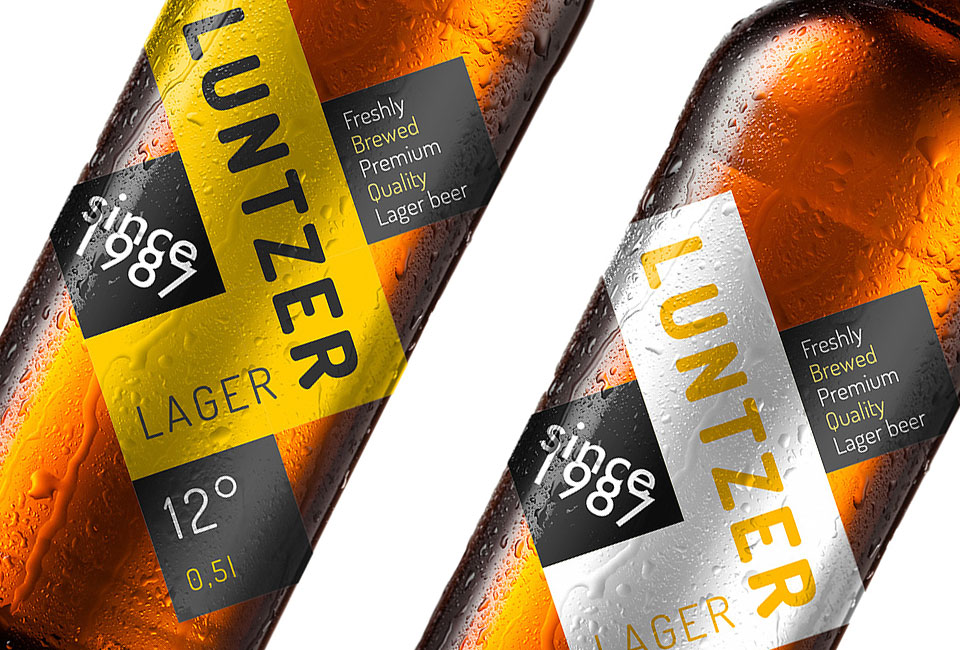 packaging luntzer lager beer intro