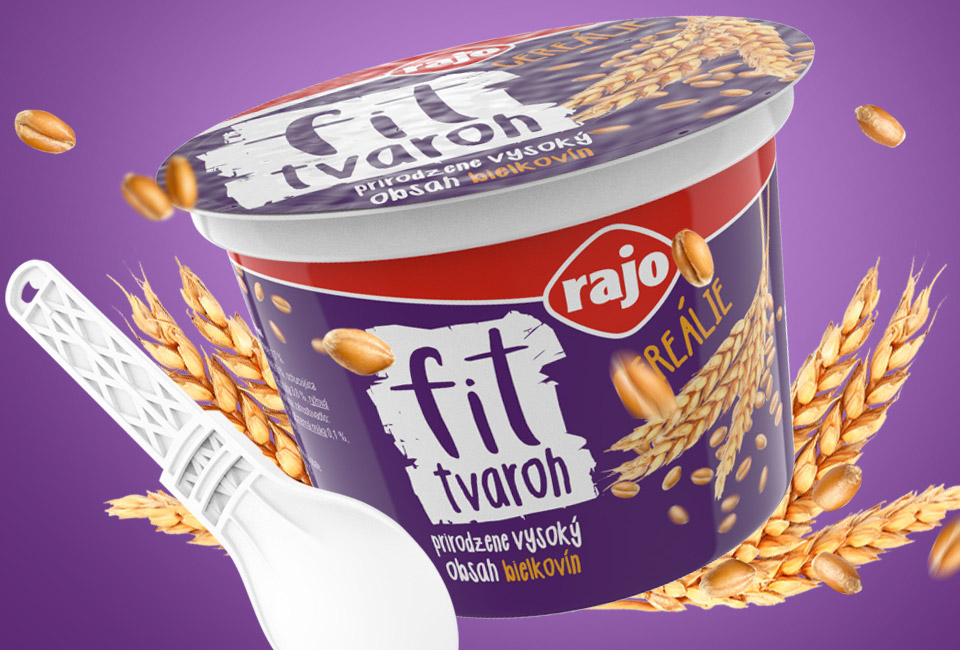 packaging rajo fit tvaroh cereales intro