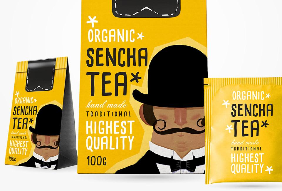 packaging sencha tea organic intro