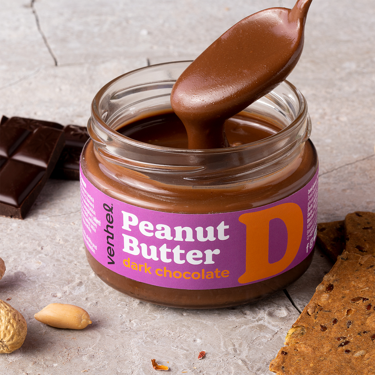 venhel packaging peanut butter dark