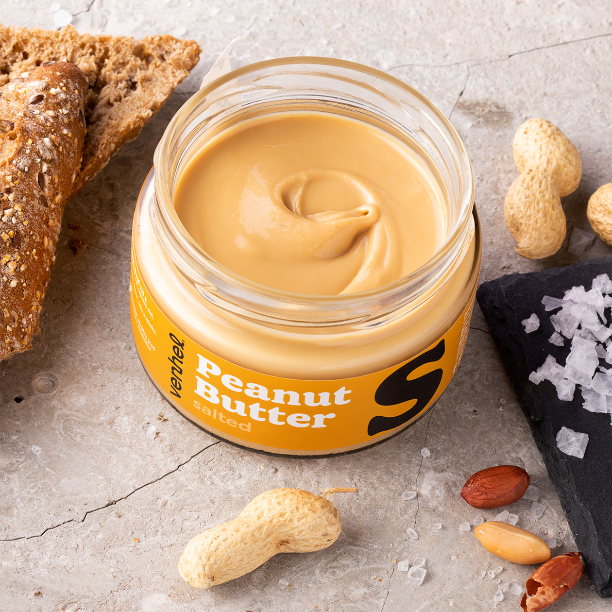 venhel packaging peanut butter salted