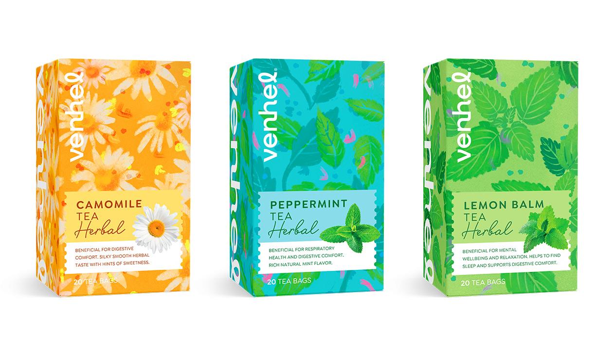 venhel tea herbal packaging