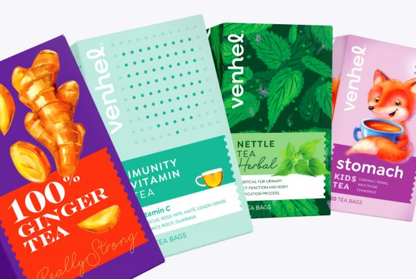 venhel tea packaging intro