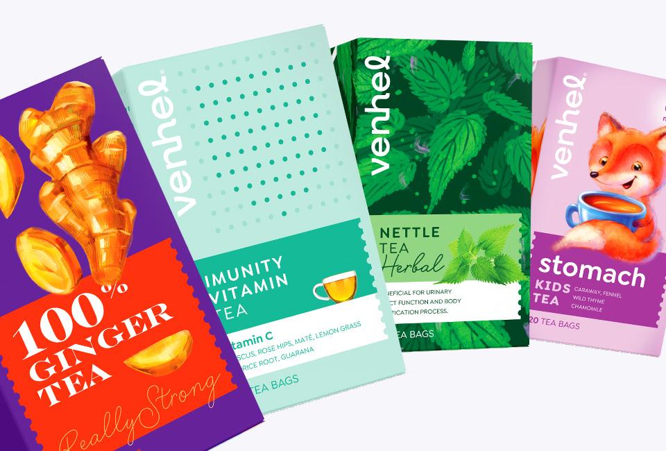 venhel tea packaging intro