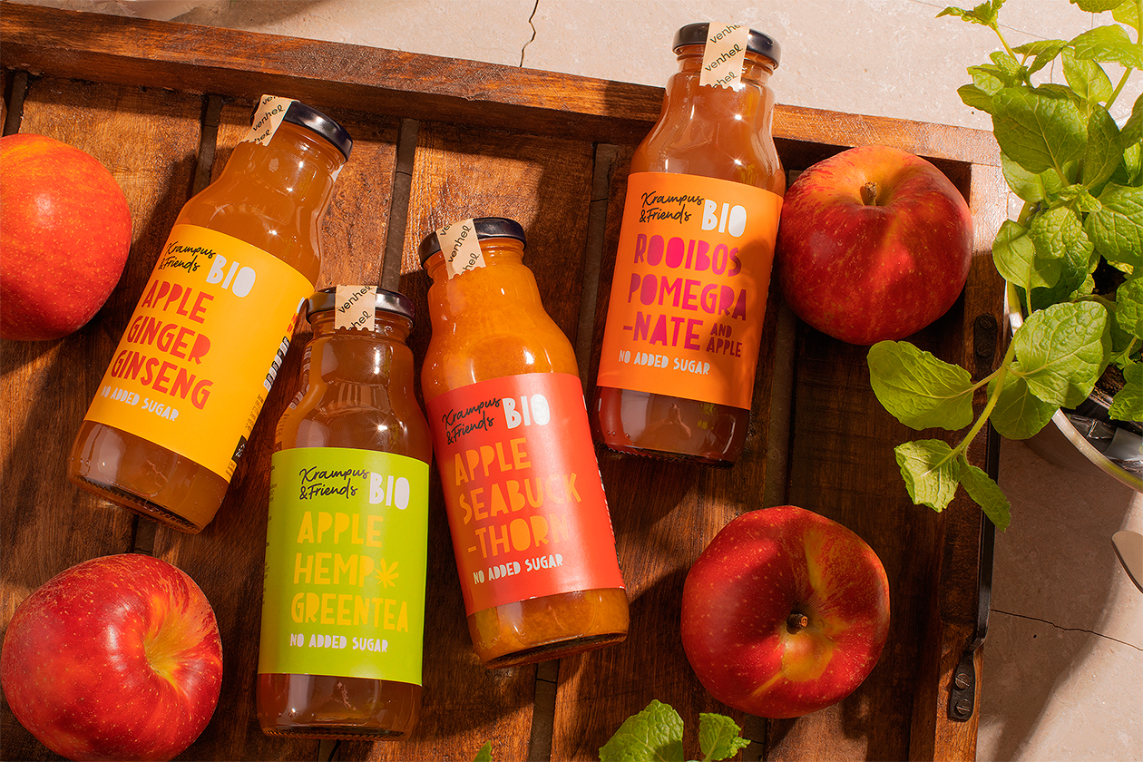 packaging venhel apple drink