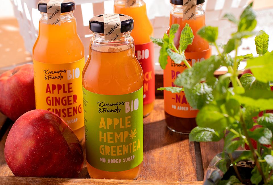 venhel packaging apple bio drink intro